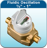 """Fluidic Oscillation ⅝"""" - 1"""" (Cold Water Meters)"""