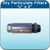"""Dry Particulate Filters - 3/4"""" x 2"""""""