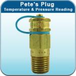 Pete's Plug® Temperature & Pressure Reading