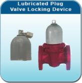 lubricated plug valve locking device