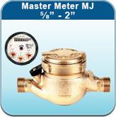 """Hot Water Meters: Master Meter MJ 5/8"""" - 2"""""""