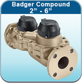 "Cold Water Meters: Badger Compound 2"" - 6"""